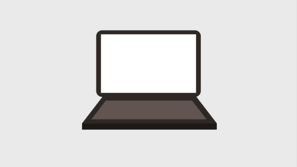 villanykörte világít a laptop képernyő ikonok