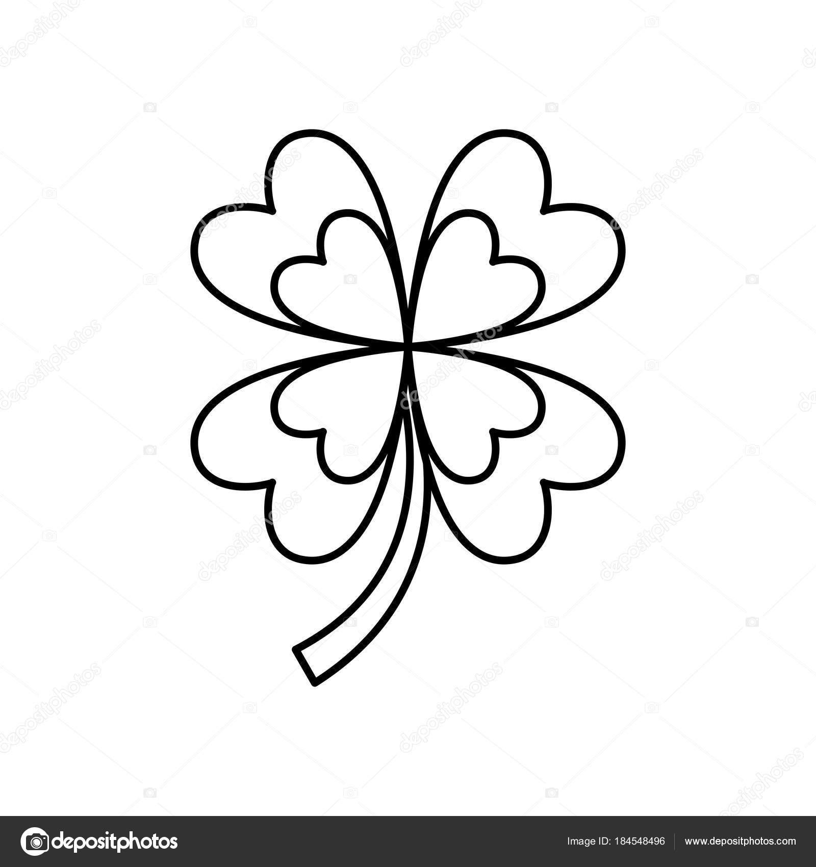 suerte de trébol de cuatro hojas — Vector de stock © yupiramos ...