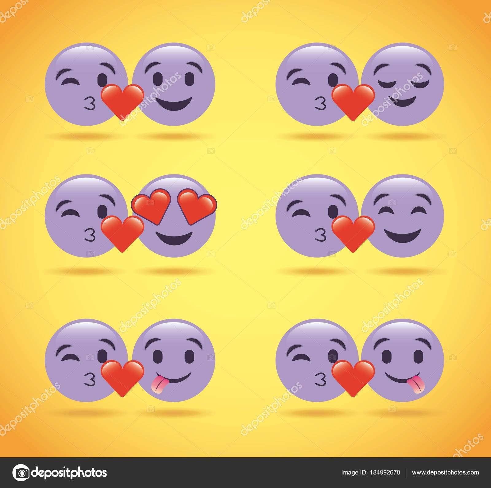 emoji lila herz