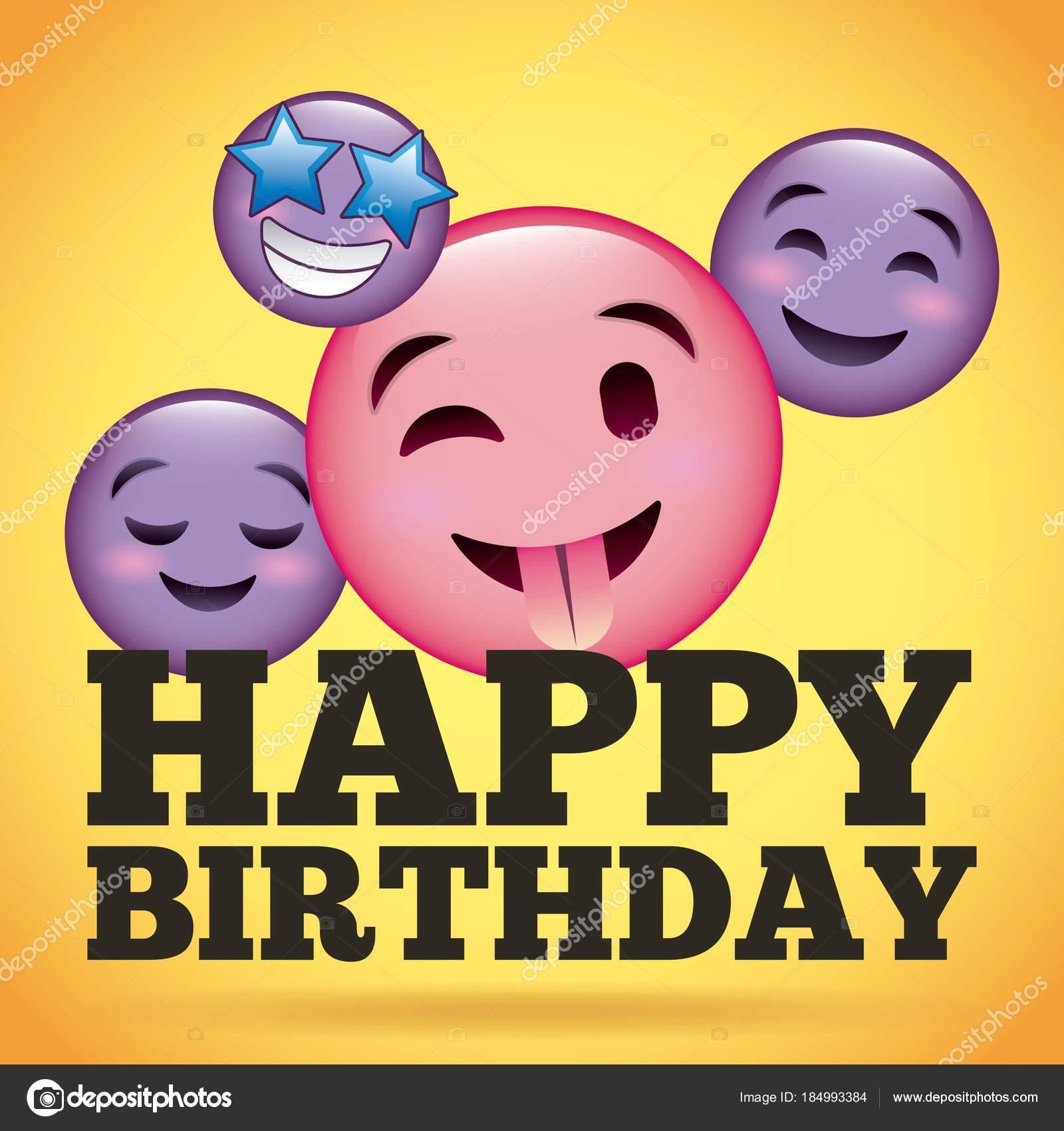 Alles Gute Zum Geburtstag Lacheln Emoji Glucklich Zunge Heraus