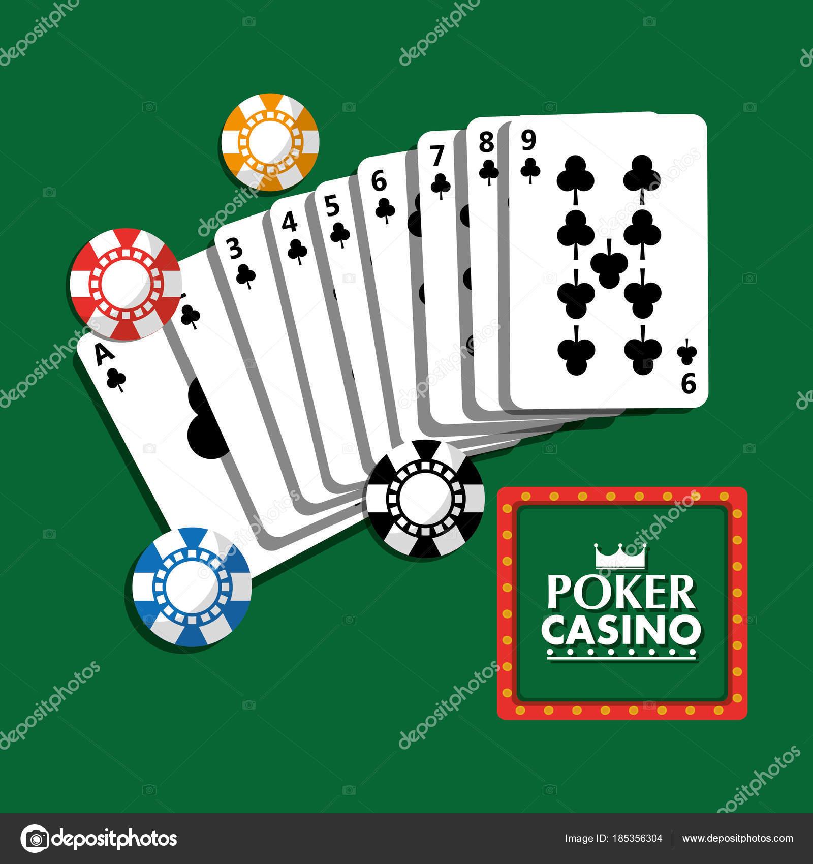 Poker Casino Billboard Plakat Cipy A Karty Bohatstvi Hazard Stock