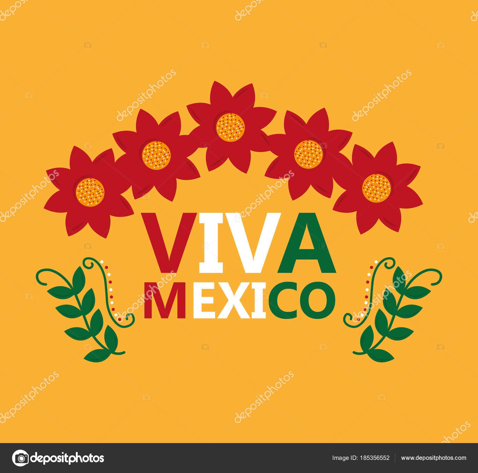 Imagenes Decoracion Viva Viva Mexico Letras Flores Deja