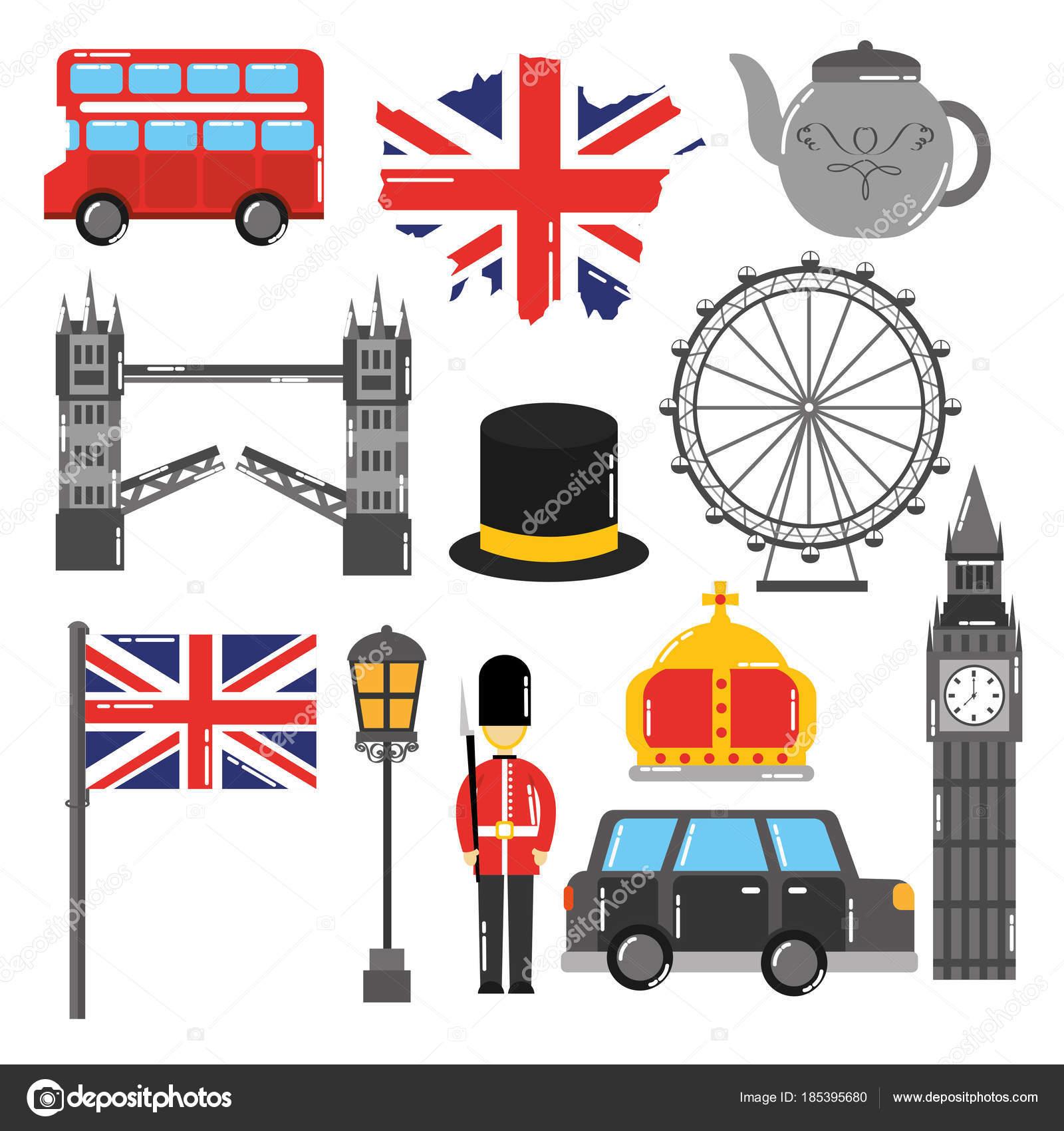 símbolo de punto de referencia de Londres Inglaterra turismo viajes ...