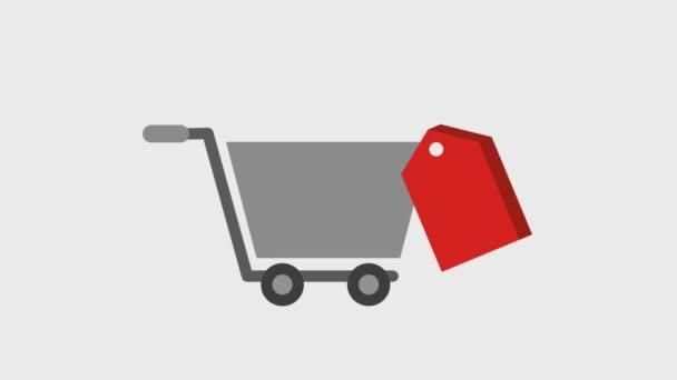 bevásárló kosár címke ára eladó animáció