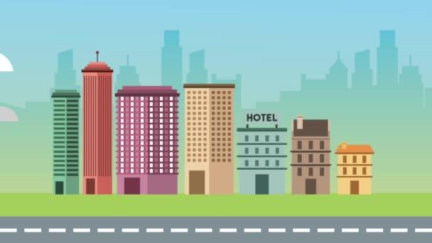 městské budovy silniční městské