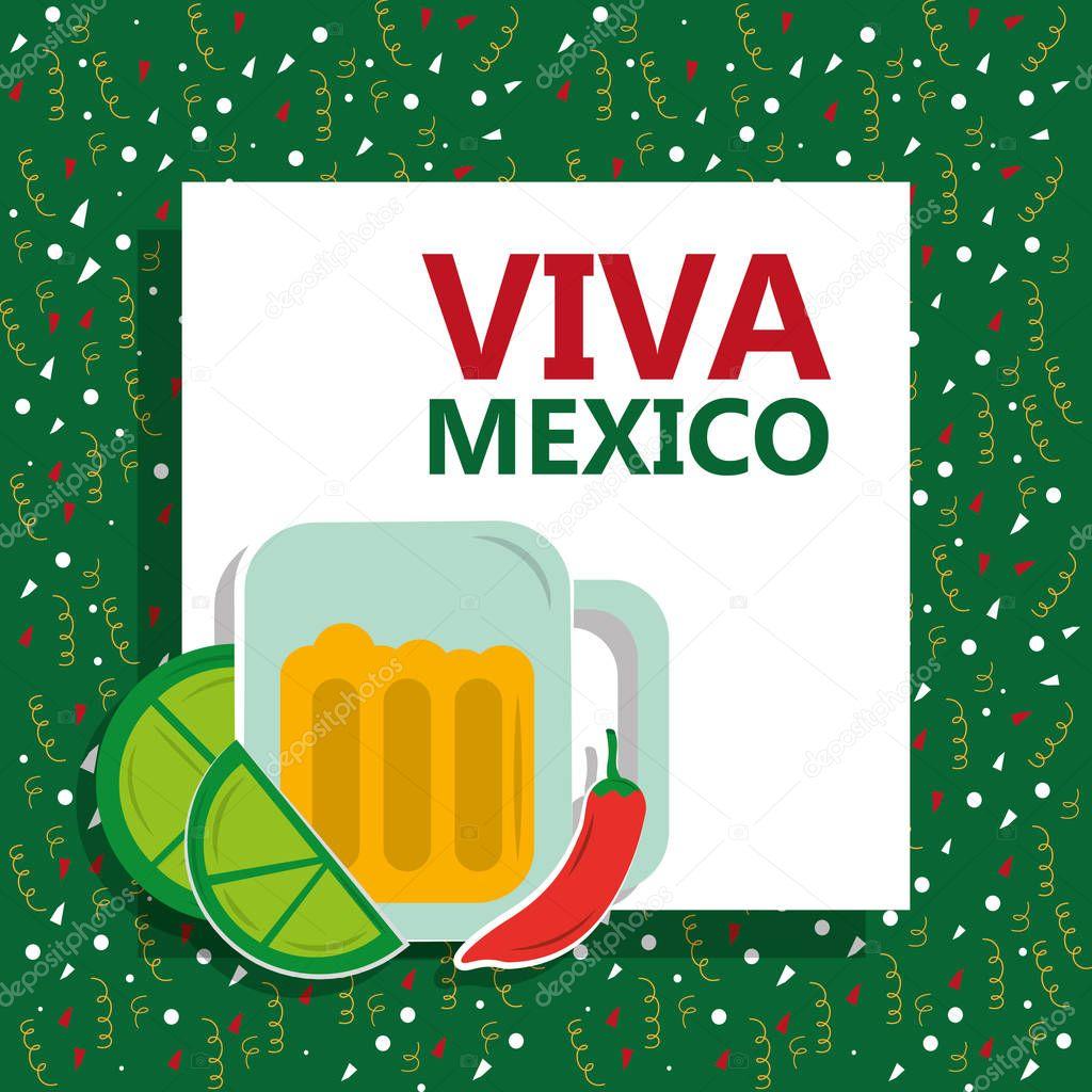 viva mexico traditional card