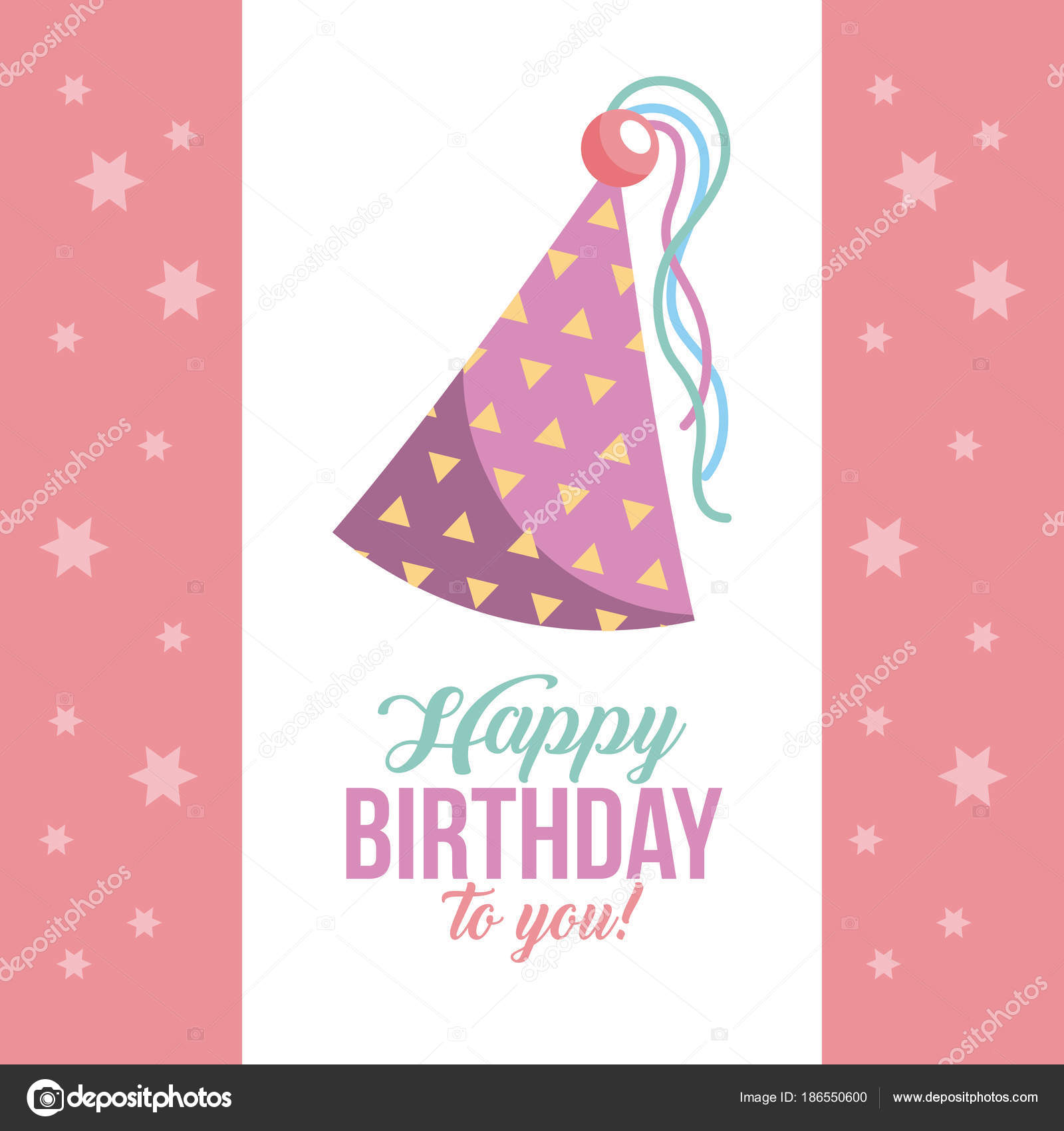 Kawaii Triangular feliz cumpleaños sombreros icono vector ilustración diseño  gráfico — Vector de yupiramos 07bcd1cd2a4