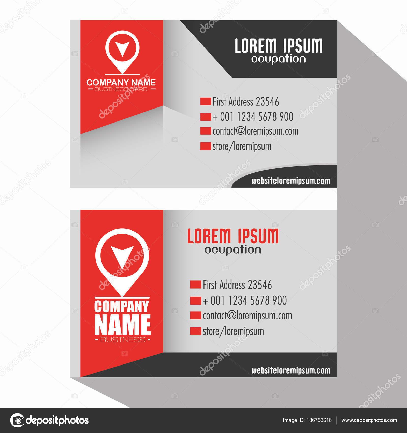 plantillas de tarjeta de visita corporativa creativa — Vector de ...
