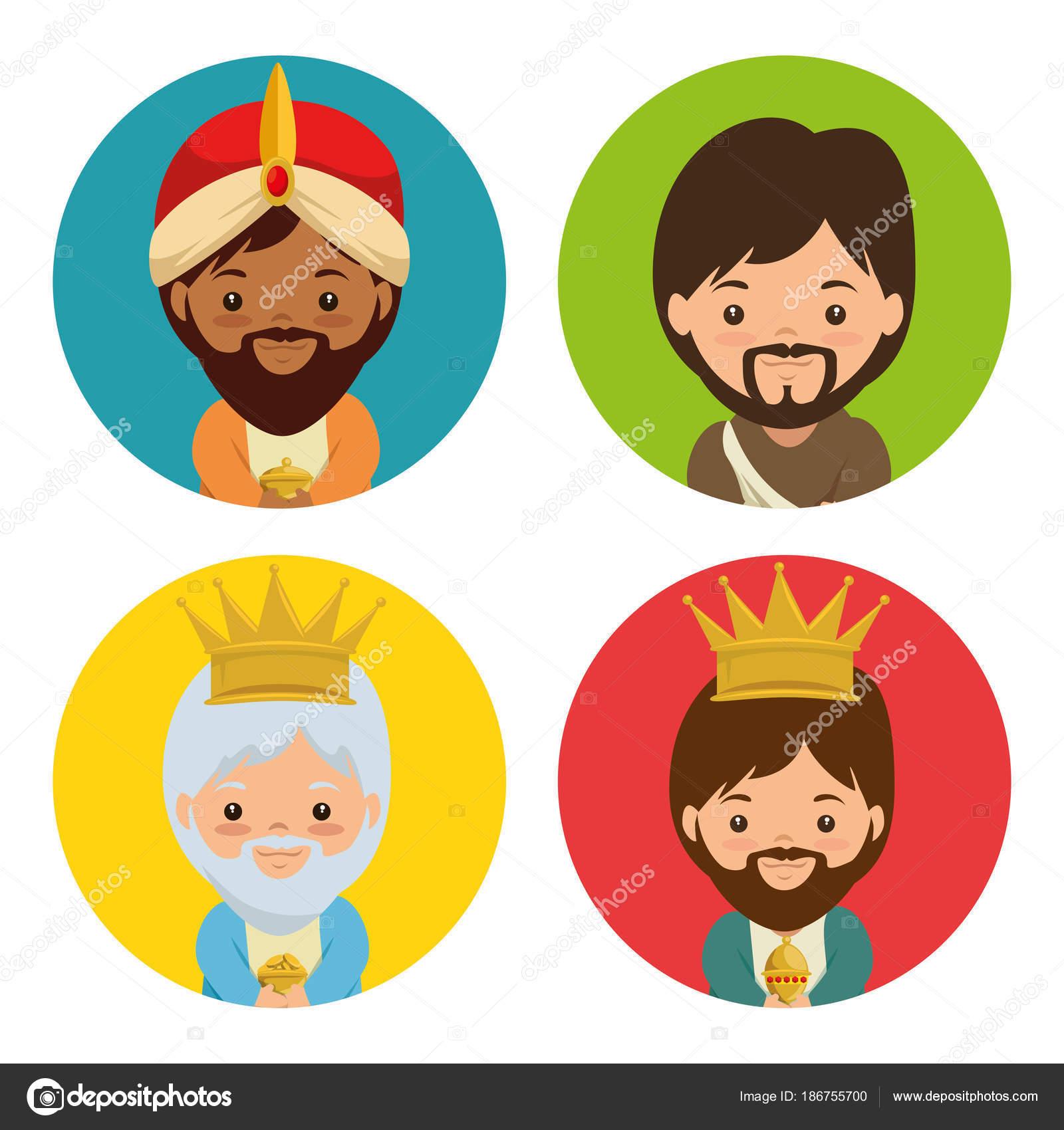 Feliz Navidad tres magia y sabios reyes — Vector de stock ...