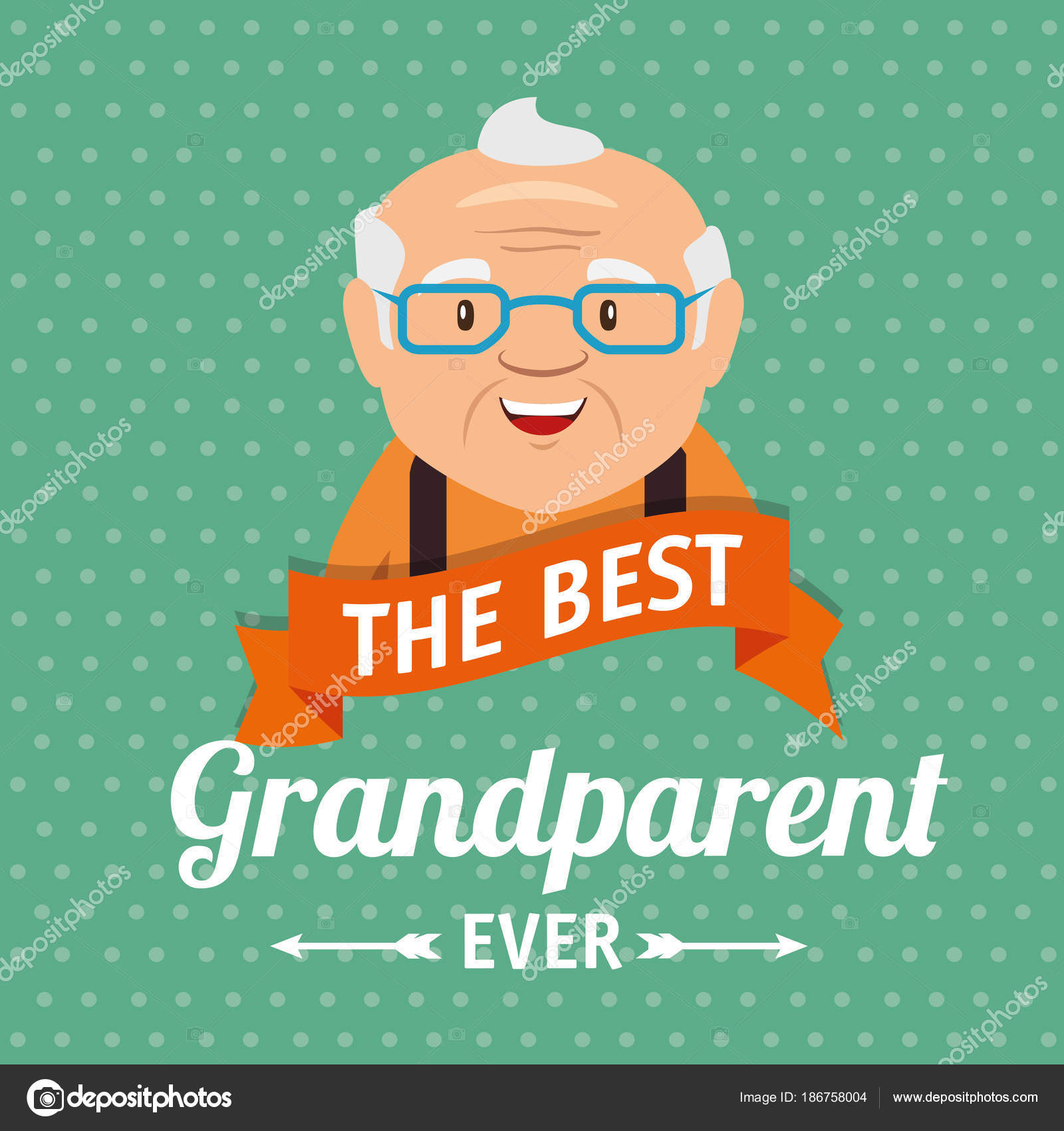 Grandparents day greeting card stock vector yupiramos 186758004 grandparents day greeting card stock vector m4hsunfo