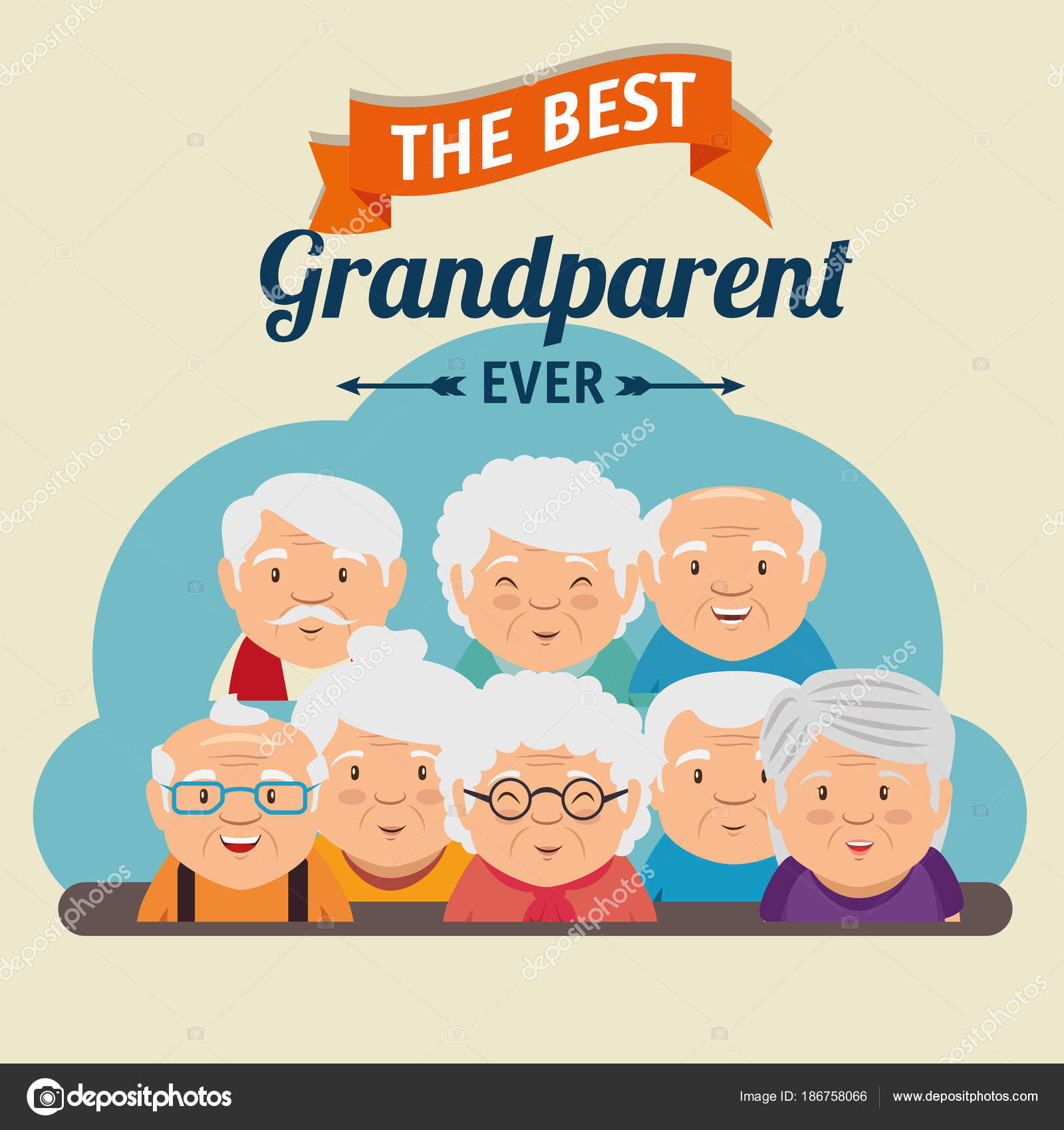 Grandparents day greeting card stock vector yupiramos 186758066 grandparents day greeting card stock vector m4hsunfo