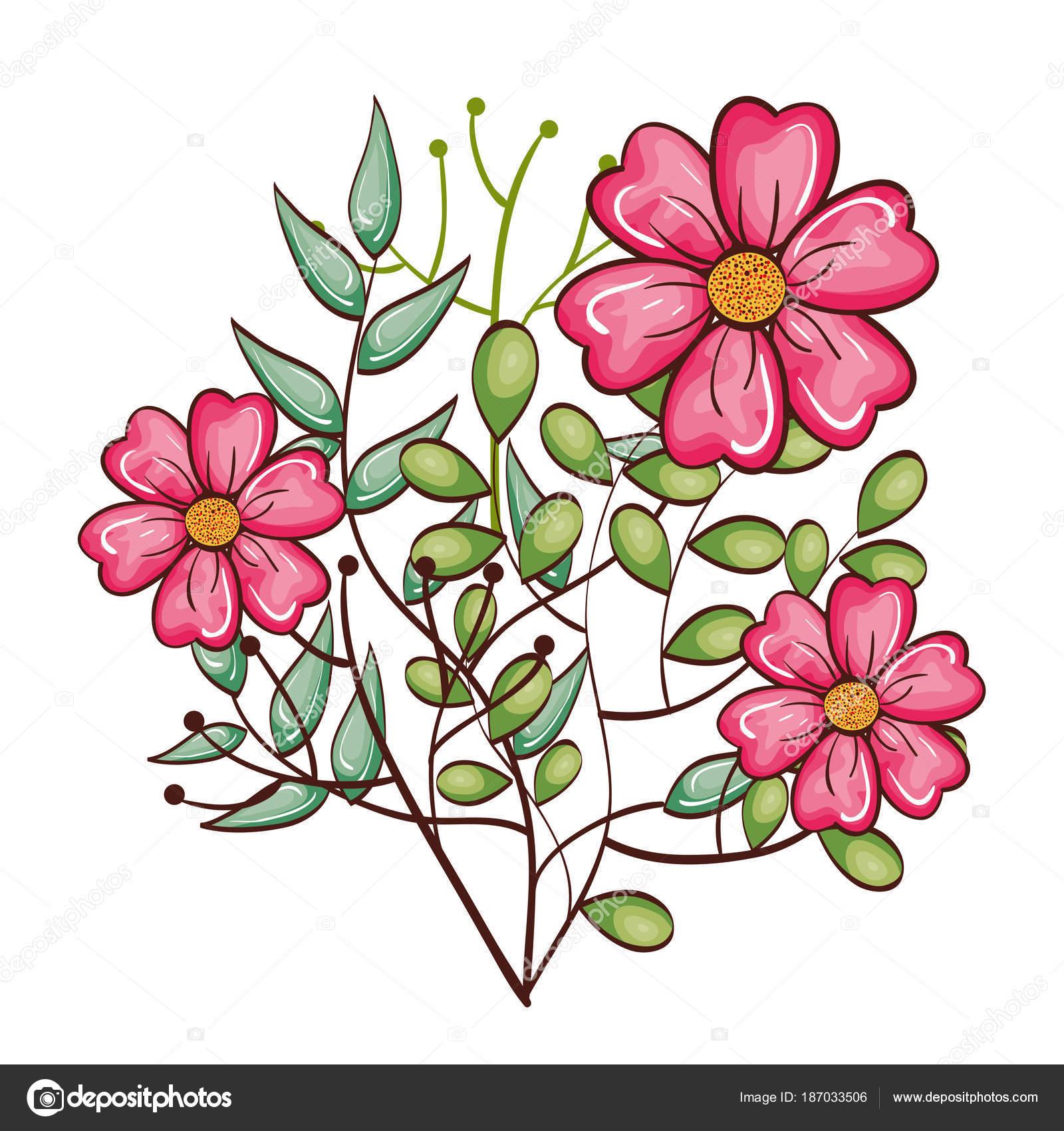 Desenho De Lindas Flores Vetores De Stock Yupiramos
