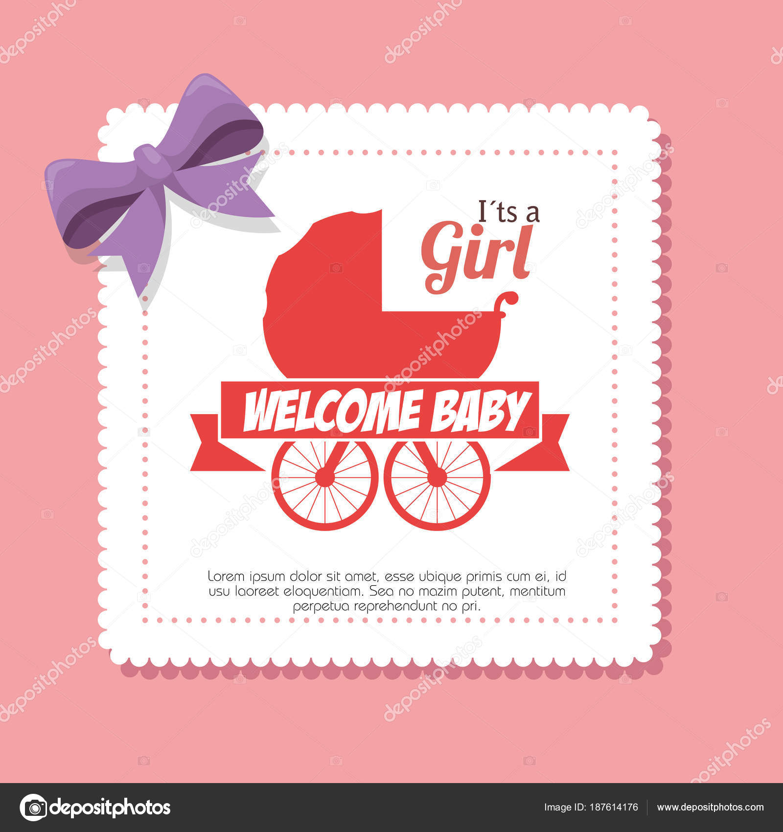 Perfect Pink Baby Shower Invitations Illustration - Invitations and ...