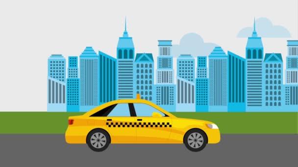 Taxi veřejné služby online animace