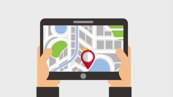 zařízení s navigační ukazatel mapa plná pálivých papriček