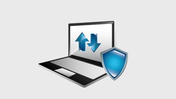laptop pajzs védelem adatok feltölt és letölt