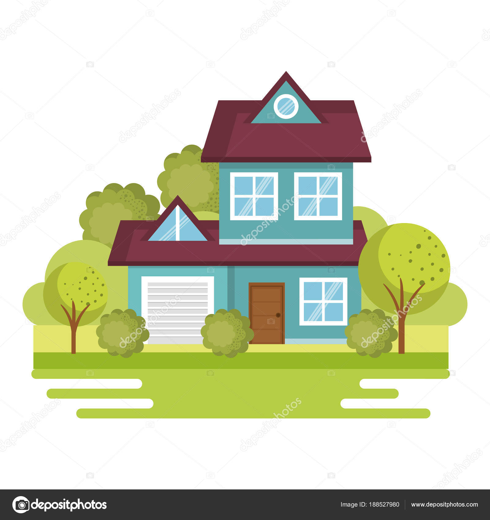 Bunte Häuser design — Stockvektor © yupiramos #188527980