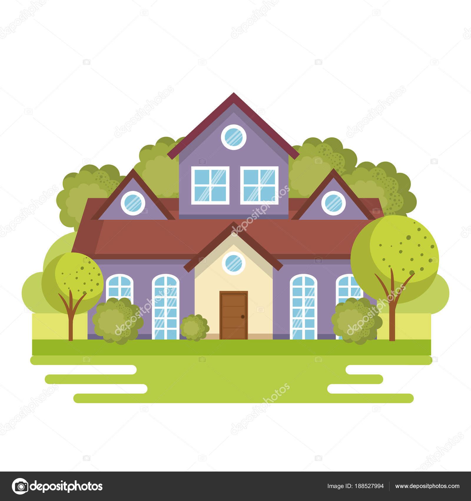Bunte Häuser design — Stockvektor © yupiramos #188527994