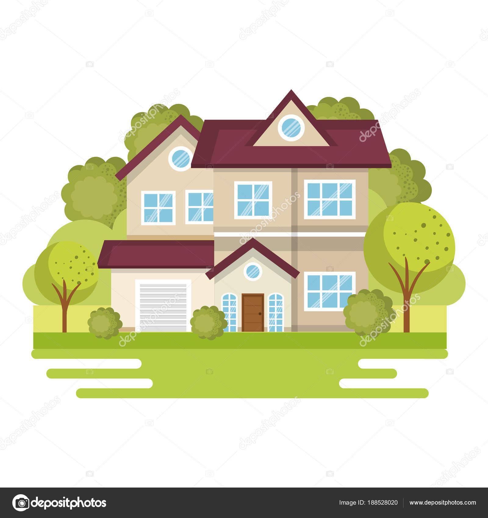 Bunte Häuser design — Stockvektor © yupiramos #188528020