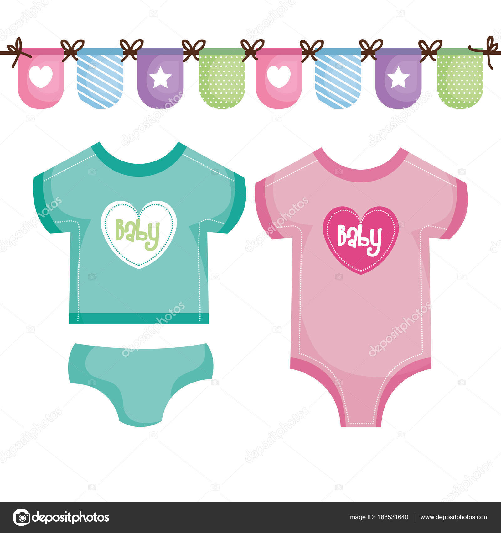 new style 2fe97 35b0a Baby-Kleidung-design — Stockvektor © yupiramos #188531640