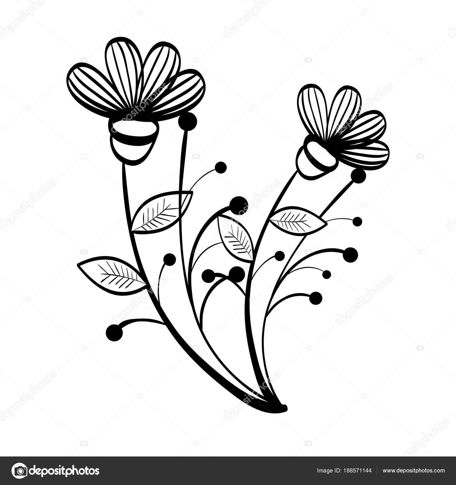Rucne Kreslene Kvetiny Design Stock Vektor C Yupiramos 188571144