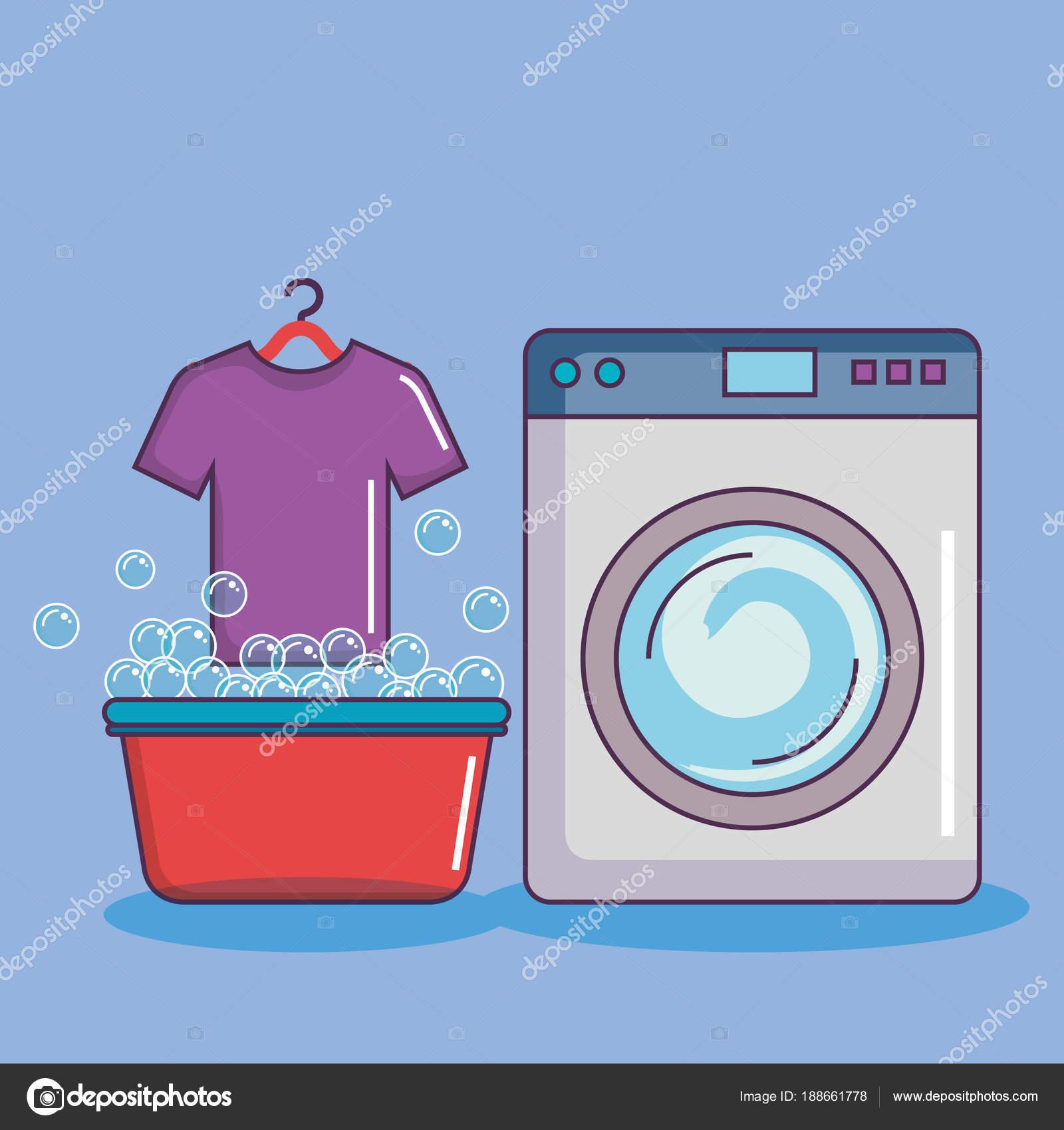 Lavadora Con Lavabo.Lavadora Con Lavabo Camiseta Pompas De Jabon Vector De