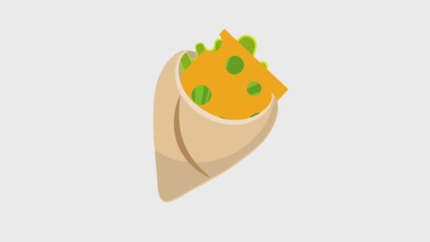 Rychlé občerstvení zábal s masem salát