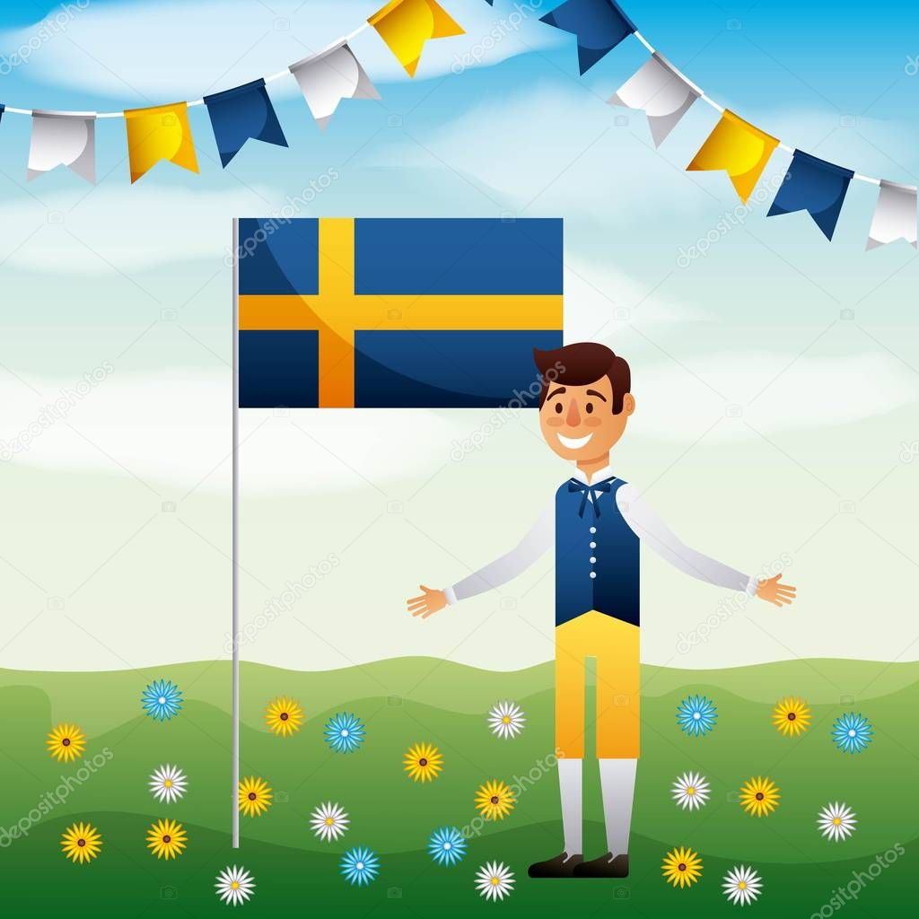 midsummer swedish celebration