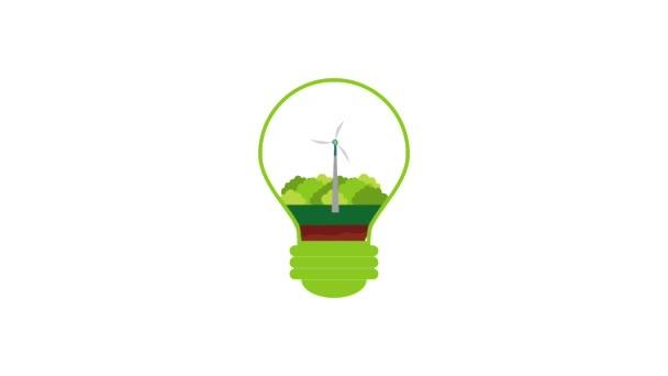 Eco zelené energie animace
