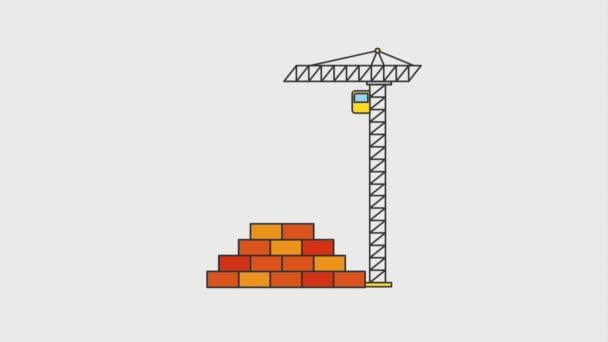 En Vertu De L Animation De Site Web De Construction Hd Video