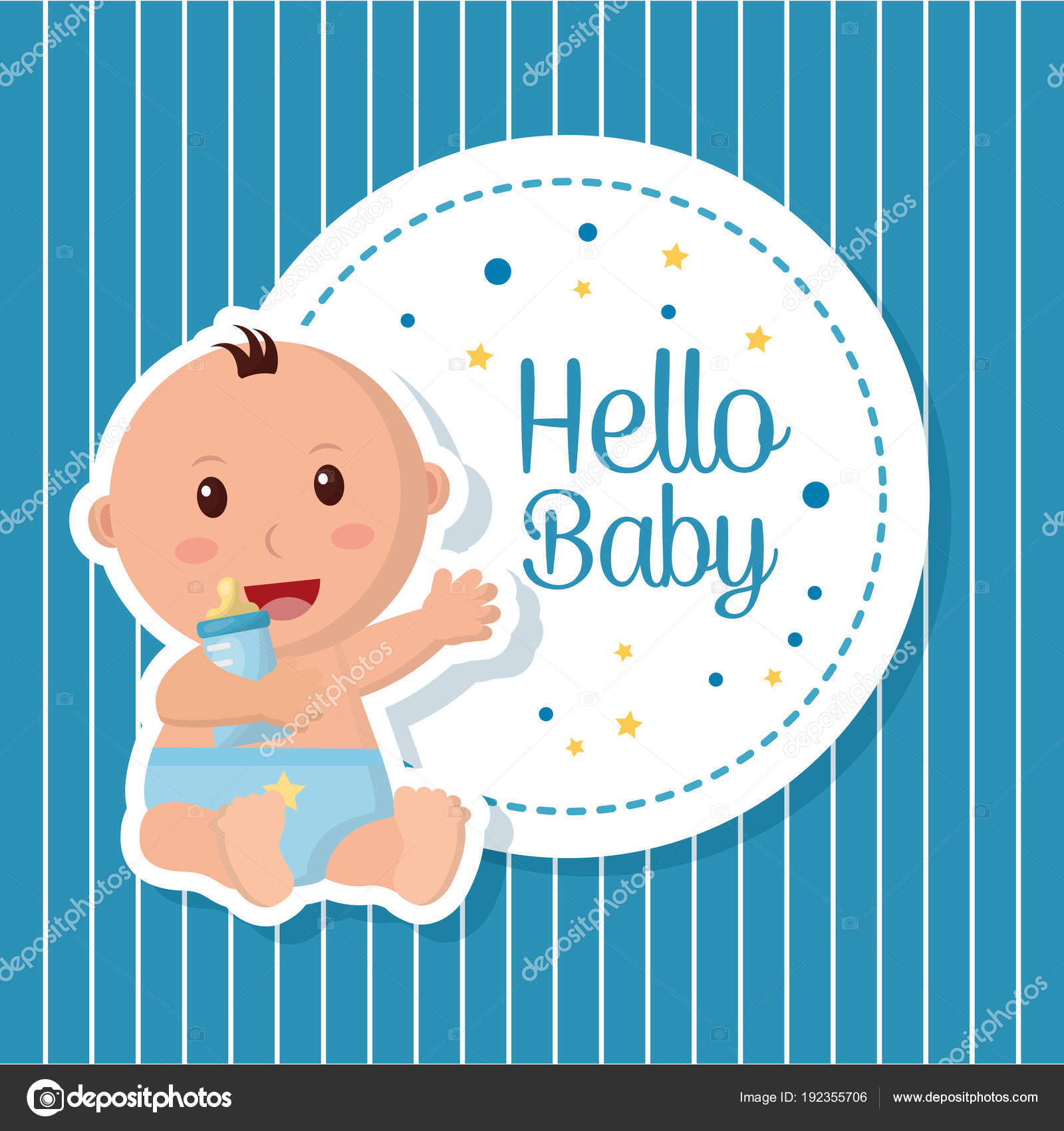 Baby shower boy and girl — Stock Vector © yupiramos #192355706