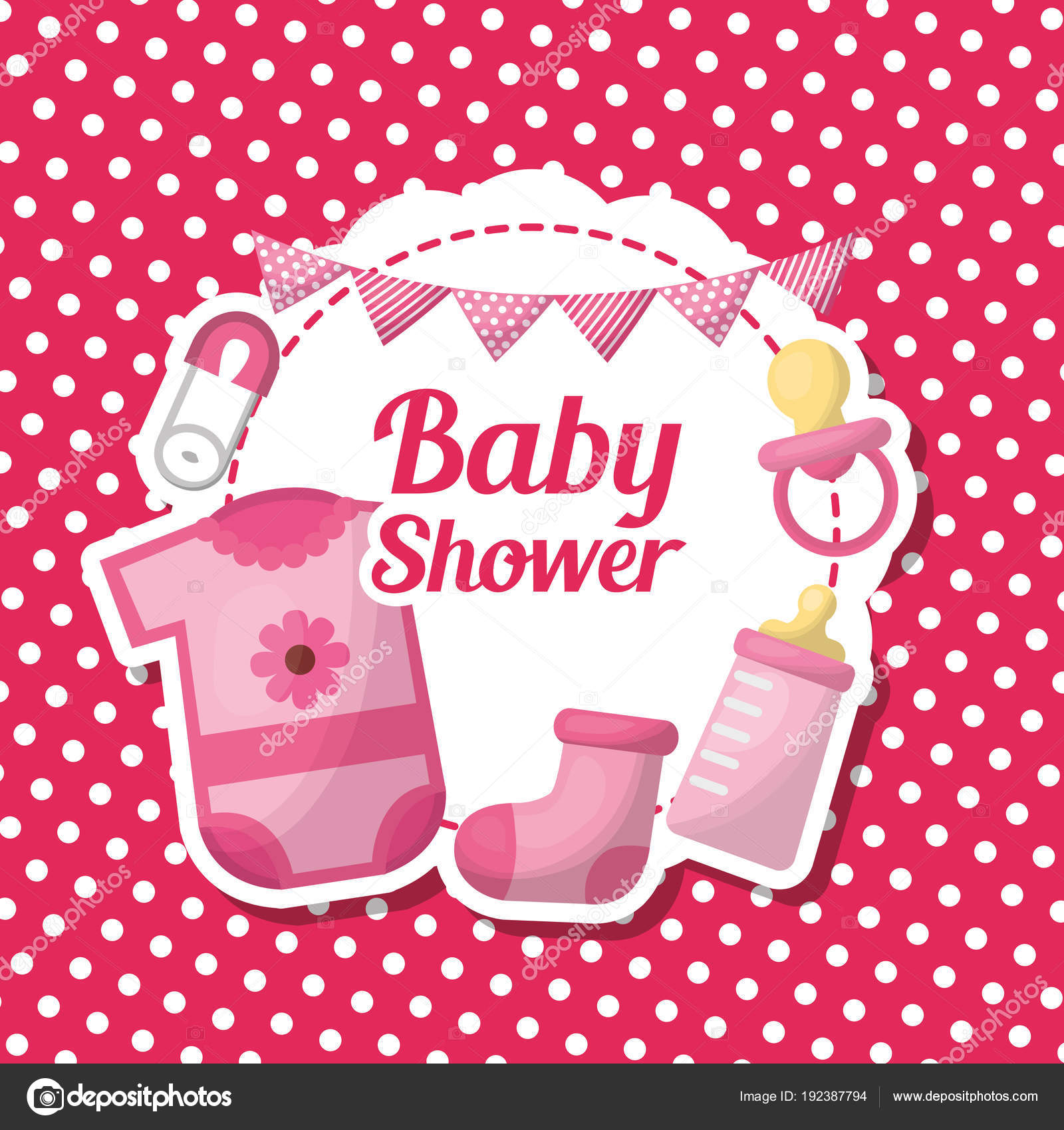Mesa De Dulce De Baby Shower.Baby Shower Card Stock Vector C Yupiramos 192387794