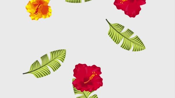 nyári trópusi sablon