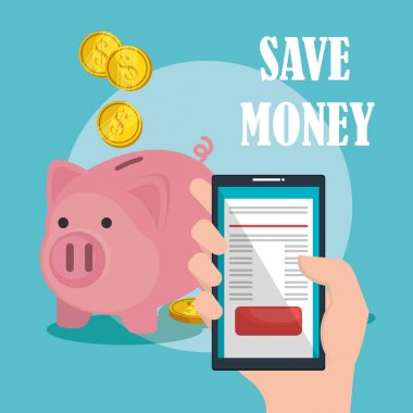 save money on line with smartphone