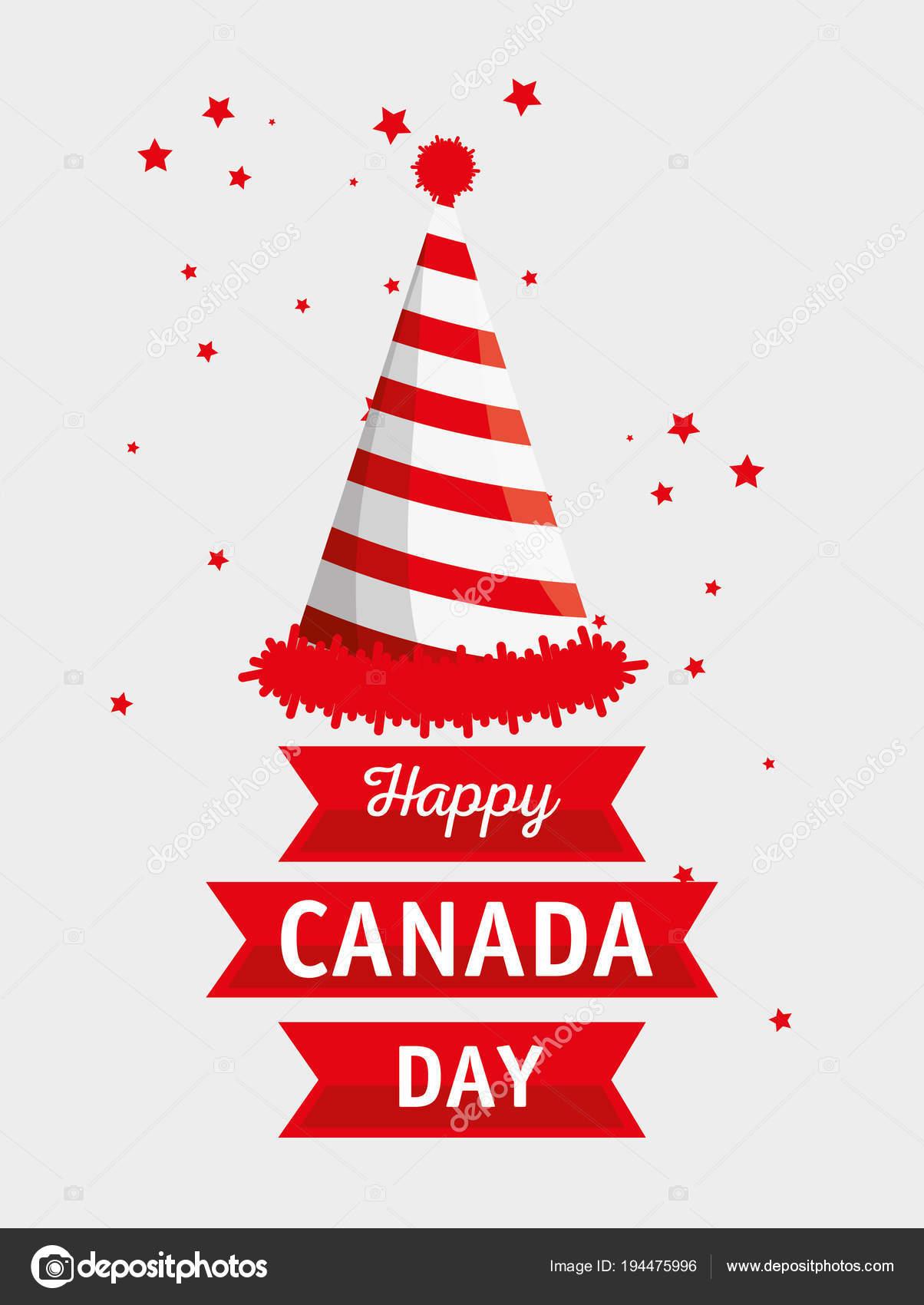 glücklich Kanada Tag Feier Plakat — Stockvektor © yupiramos #194475996