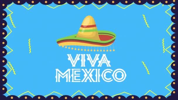 viva Mexico Animation mit mexikanischem Hut