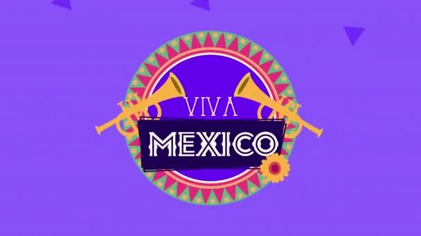 Viva Mexico Animation mit Trompeteninstrumenten