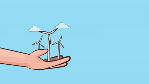 eco friendly environmental animation with energy production