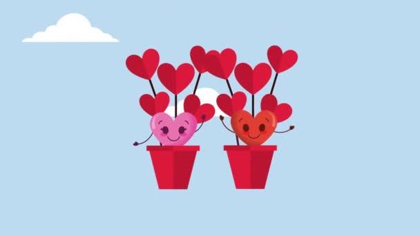 valentinky karta s láskou srdce létání v balónu vzduchu horké znaky