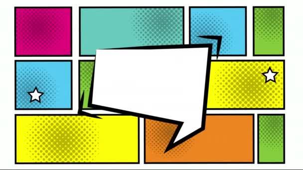 Ausdruck Sprechblase mit einem Bündel von Elementen Pop Art Stil
