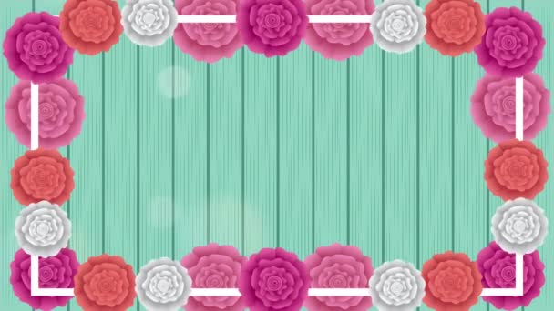 beautiful roses garden with square border