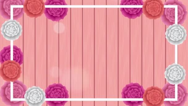 gyönyörű rózsa kert négyzet alakú szegéllyel