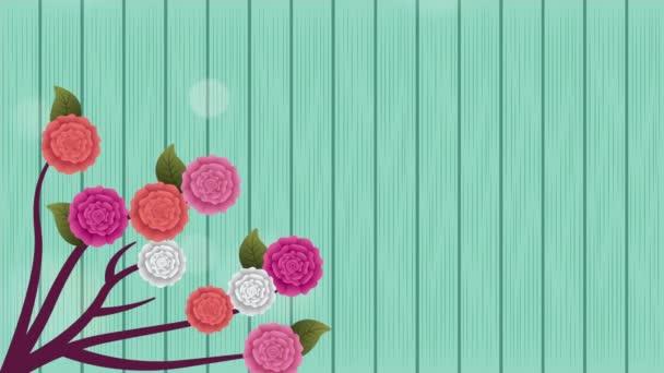 Zweig mit Rosen Blumen Dekoration