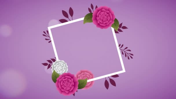 gyémánt keret gyönyörű rózsákkal kert