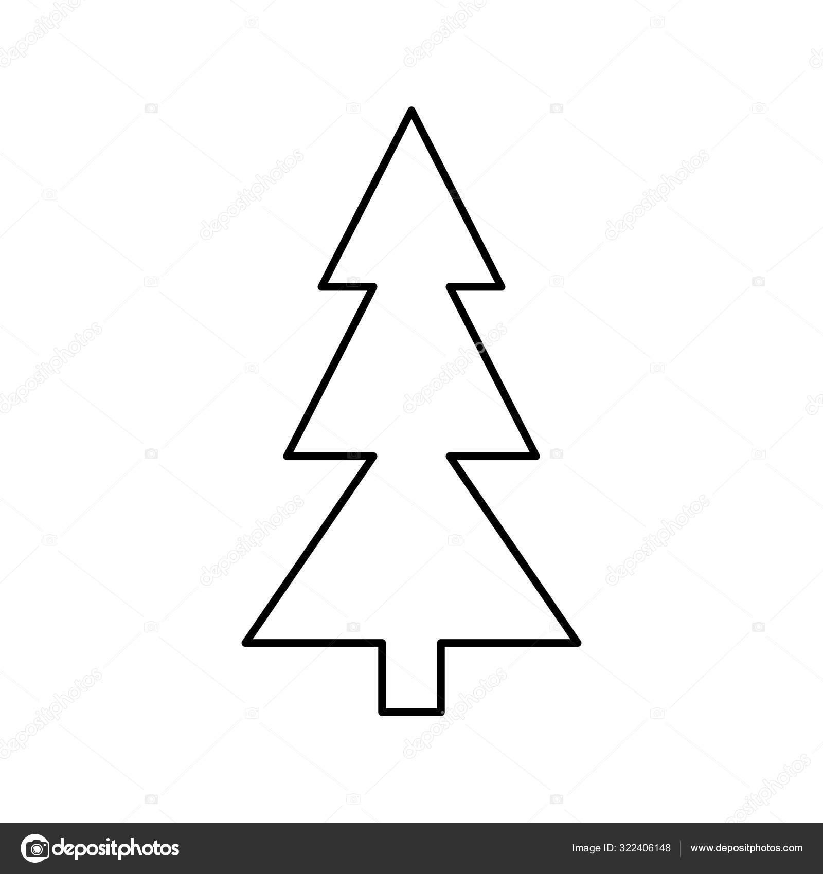 tannenbaum weihnachtslinie stilikone — stockvektor