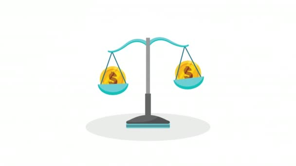 economy and finances balance with coins