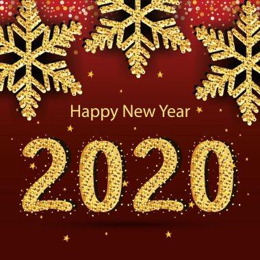 Happy new year 2020 vector design