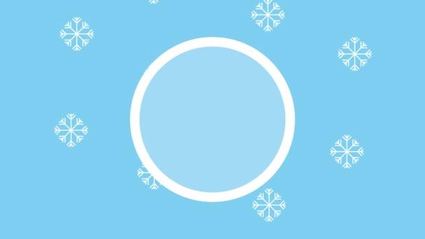 zimní sněhová scéna se sněhovými vločkami