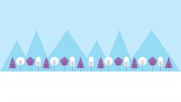 zimní sněhová scéna s domem