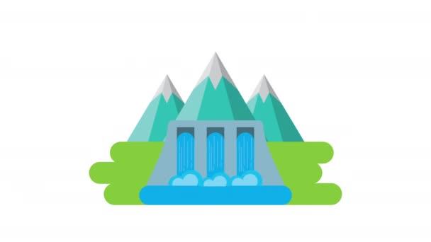vízi gát környezetbarát animáció